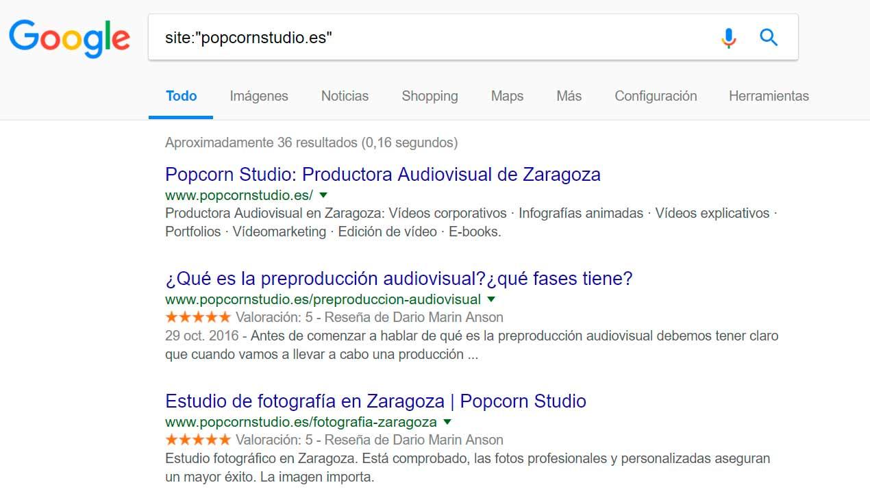 indexacion de una web en google