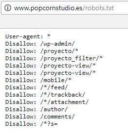 comprobar robots.txt web