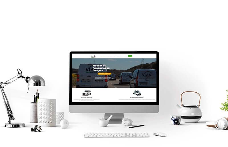 Óptima web. Diseño web. cliente. Viani Eco Rental
